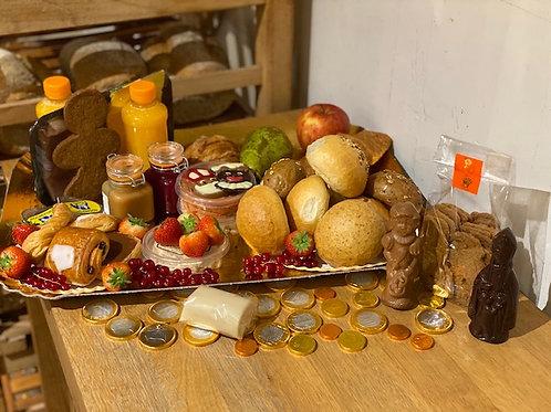 Luxe Sinterklaas ontbijtmand 1 of 2 personen