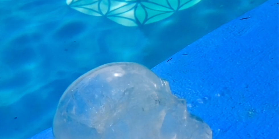 Swimming with the Sacred Crystal Skulls!  An afternoon of Activation, Meditation and Initiation.