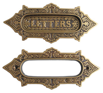 Delilah Mail Slot, Antique Brass