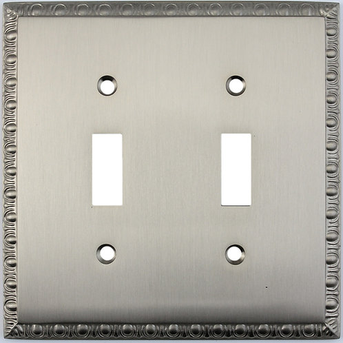 Egg and Dart double toggle switch plate 3 finishes