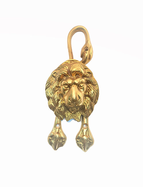 Lion Doorknocker With Paws & Tail #3414.US3A