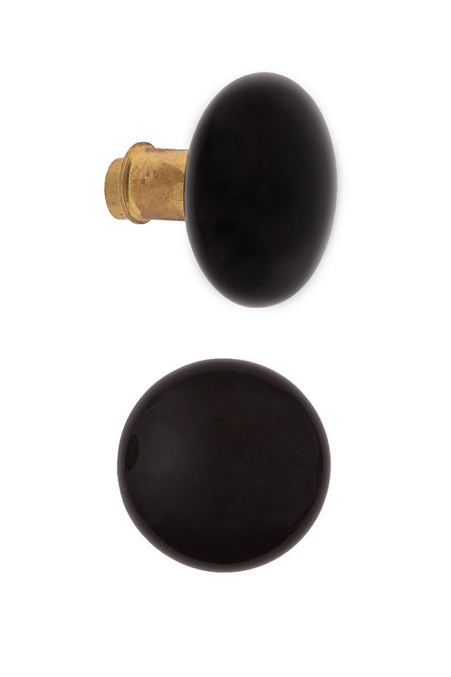 Rim Lock Type Black Ceramic Doorknobs #2406.USXXX