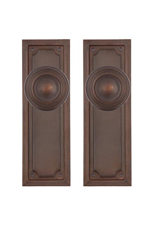 Mission Back Plate & Doorknob Sets #101X.USXXX