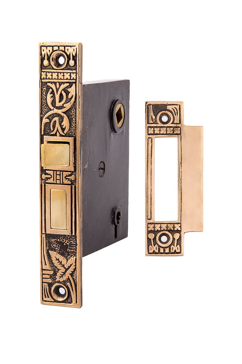 Broken Leaf Mortise Lock w/ Strike Plate 0316.USXX