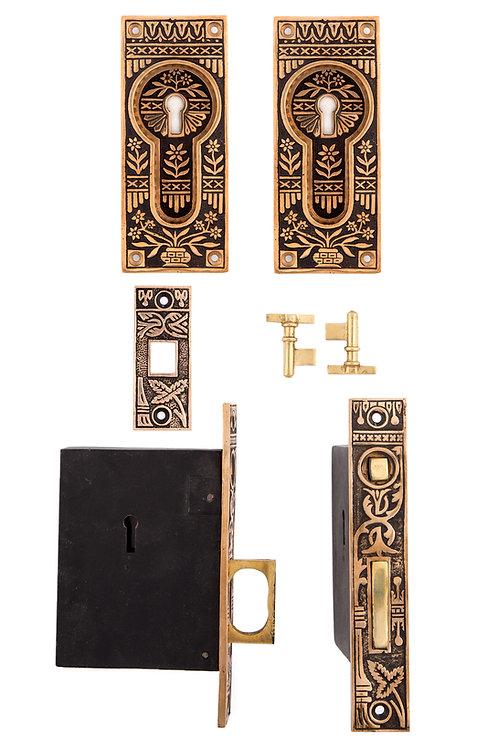 Potted Flower Keyed Pocket Door Sets #062X.USXXX