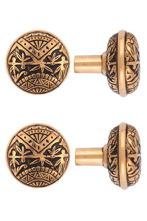 Oriental Round Doorknobs #1301.USXXX