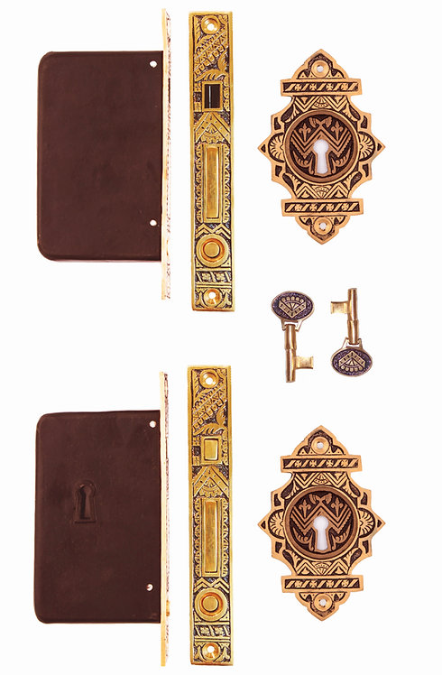 Oriental Fancy Double Pocket Door Locking Sets #1309A.USXX