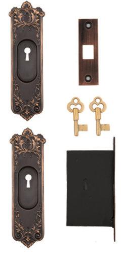 Lorraine Keyed Pocket Door Sets #091X.US10B