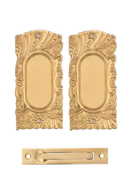 Roanoke Passage Pocket Door Set #1529.USXXX