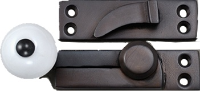 cast brass sash lock with ceramic knob