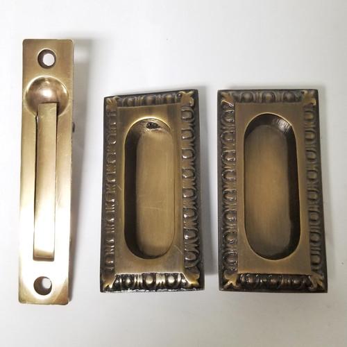 Egg Dart Small Pocket Door Set 0800 Us7