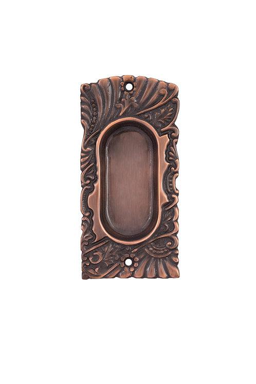 Antique Copper Roanoke Pocket Door Handles #152X.US8