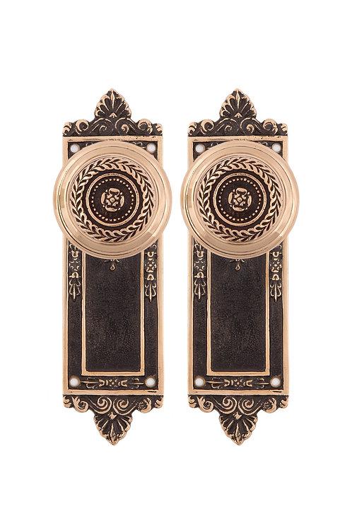 Federal Back Plates & Doorknob Set #51XX.USXXX