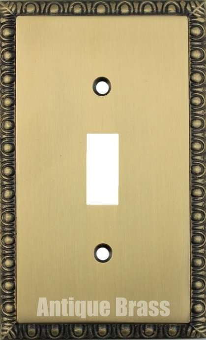 Egg and Dart 1-4 toggle switch plates