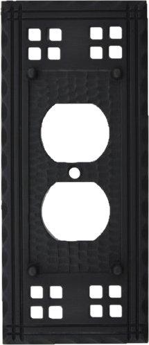Mission duplex outlet plates