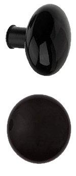 Rim Lock Type Black Ceramic Doorknobs