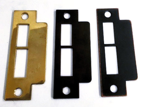 Entry door mortise lock strike plate #3212.USXX
