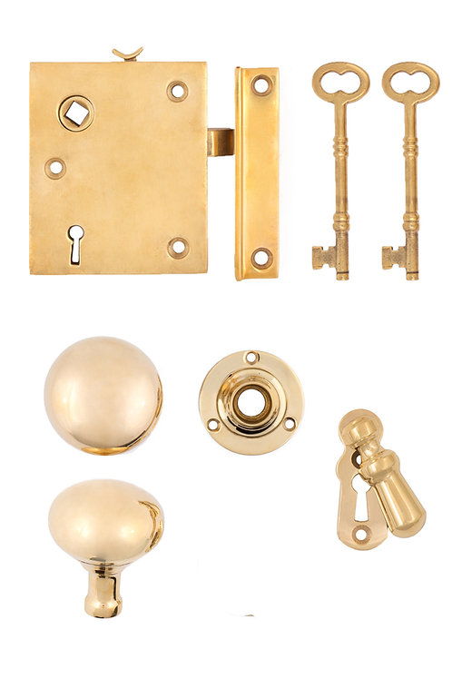 Brass Vertical Rim Lock Set #2021.US3A