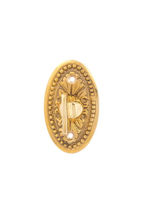 Oval Beaded Acanthus Doorbell Turn #3306.USXXX