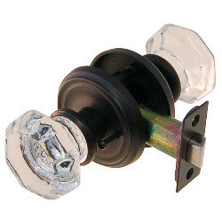 Octagonal Glass Doorknob Set