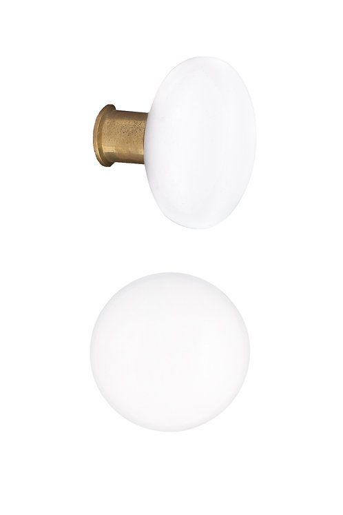 Rim Lock Type White Ceramic Doorknobs #2405.USXXX