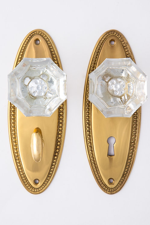 Beaded Back Plates With 1890 Glass Doorknobs