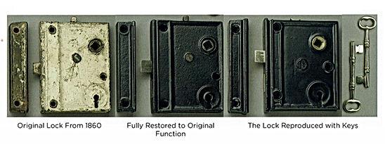 Charleston Harware Restored and Reproduced Rim Lock