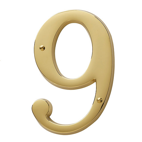 "4 3/4"" heavy brass house numbers"