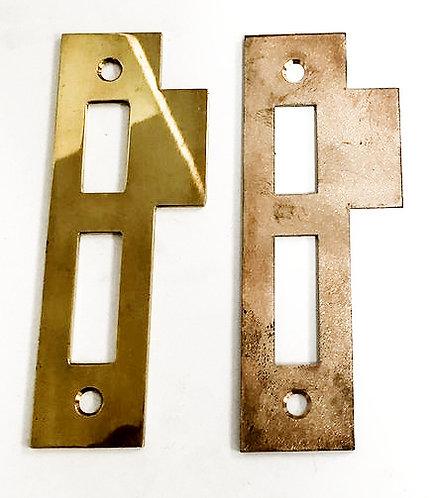 Entry door mortise lock strike plate #3215.XX