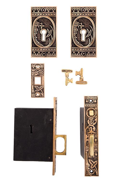 Broken Leaf Keyed Pocket Door Sets #032X.USXXX