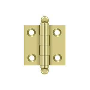 """Pair 1 1/2"""" solid brass cabinet hinges"""