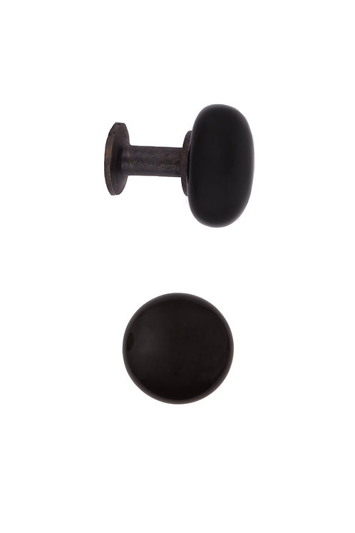 Black Ceramic Cabinet Knobs #2415.US19