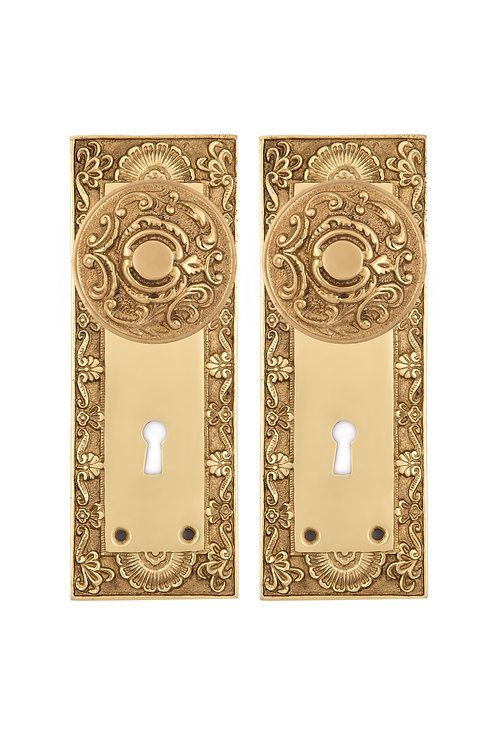 Neoclassical Doorknob & Back Plate Set #50XX.USXX