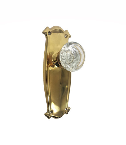 Bungalow Back Plates With Round Glass Doorknobs #040x.US3A