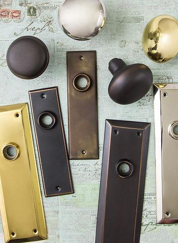 Charleston Hardware Back Plates and Doorknobs
