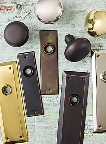 Charleston Hardware Back Plates and Doorknobs