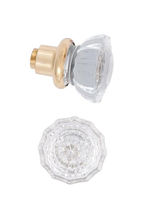 Bright Fluted Glass Doorknob #2702.USXX