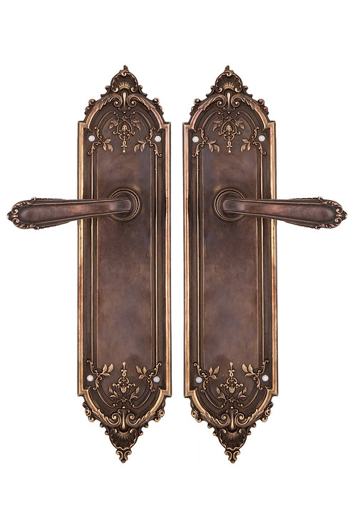 Neoclassical French Shell Lever & Back Plate Set #1804.XXX