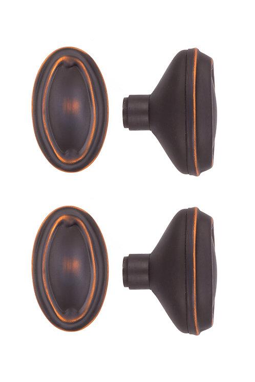 Bungalow Oval Doorknobs #0401.USXXX