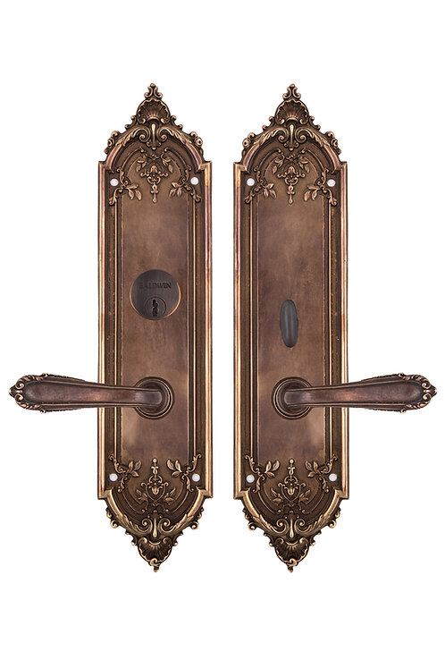 Neoclassical French Shell Entry Lever Set #18XX.US