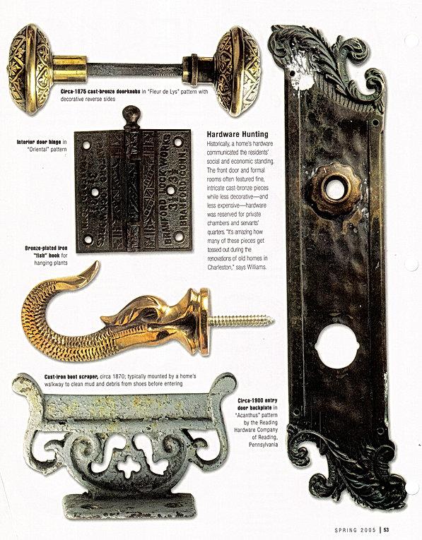 Charleston Hardware Co. In Charleston Home Magazine