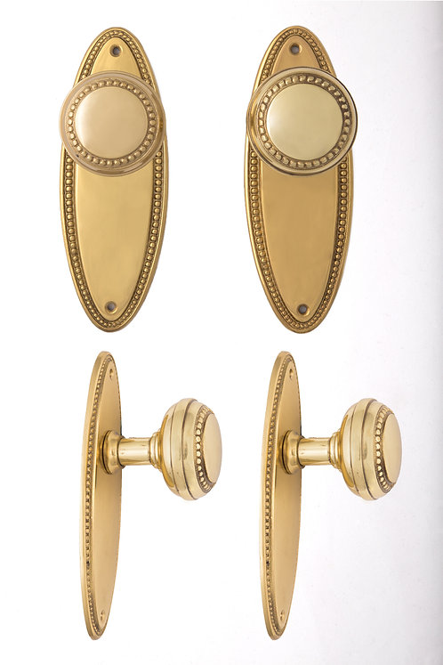 Beaded Doorknobs and Back Plates
