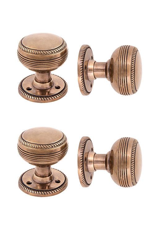 "Rope Doorknob & 2"" Rosette Set #160X.USXX"