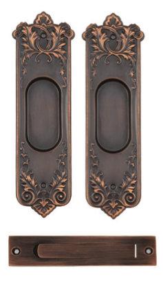 Loraine Passage Pocket Door Set #0916.US10B