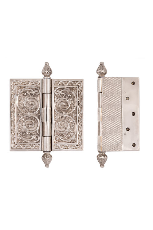 Silver Plated Blind Mount Hinges #3726.US12