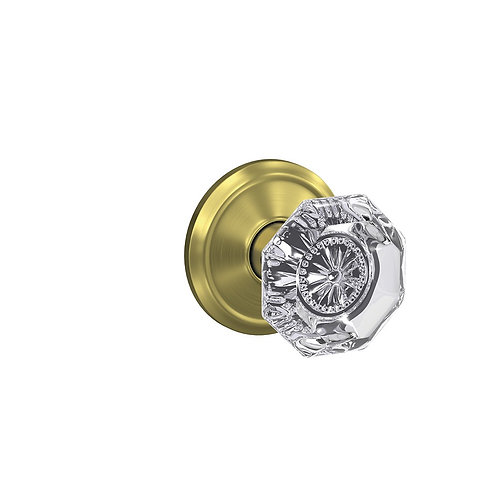 Alexandria glass knob with Alden trim