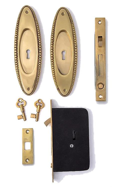 Beaded Keyed Pocket Door Sets #022X.USXX