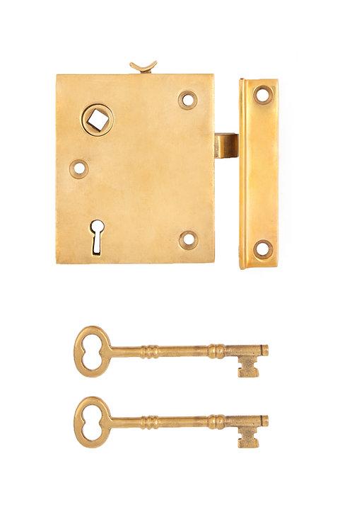 Brass Vertical Rim Lock #2029.US3A