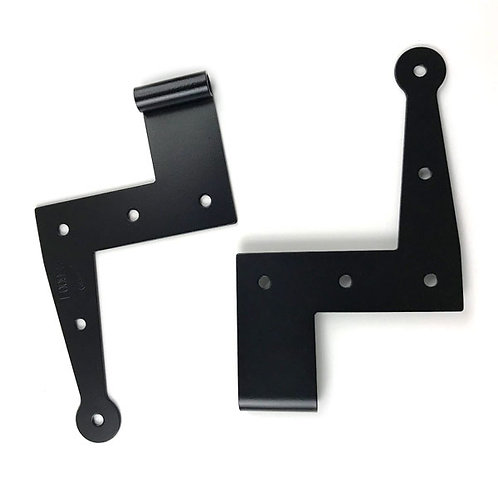 "6"" Angle stainless Strap Hinges pair many offsets"