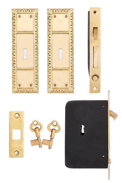 Egg & Dart Keyed Pocket Door Sets #082X.USXXX